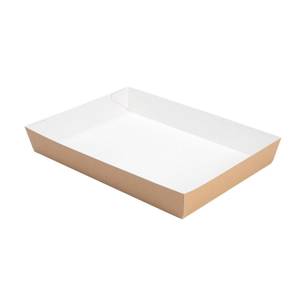 Plateau fast food en carton 25,5x18x3,7cm - par 200