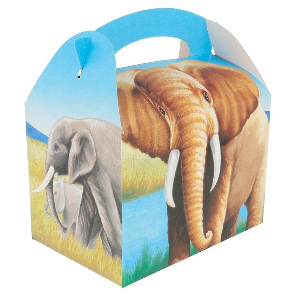 Boîte menu enfant carton Elephants 17x16x10cm - par 300