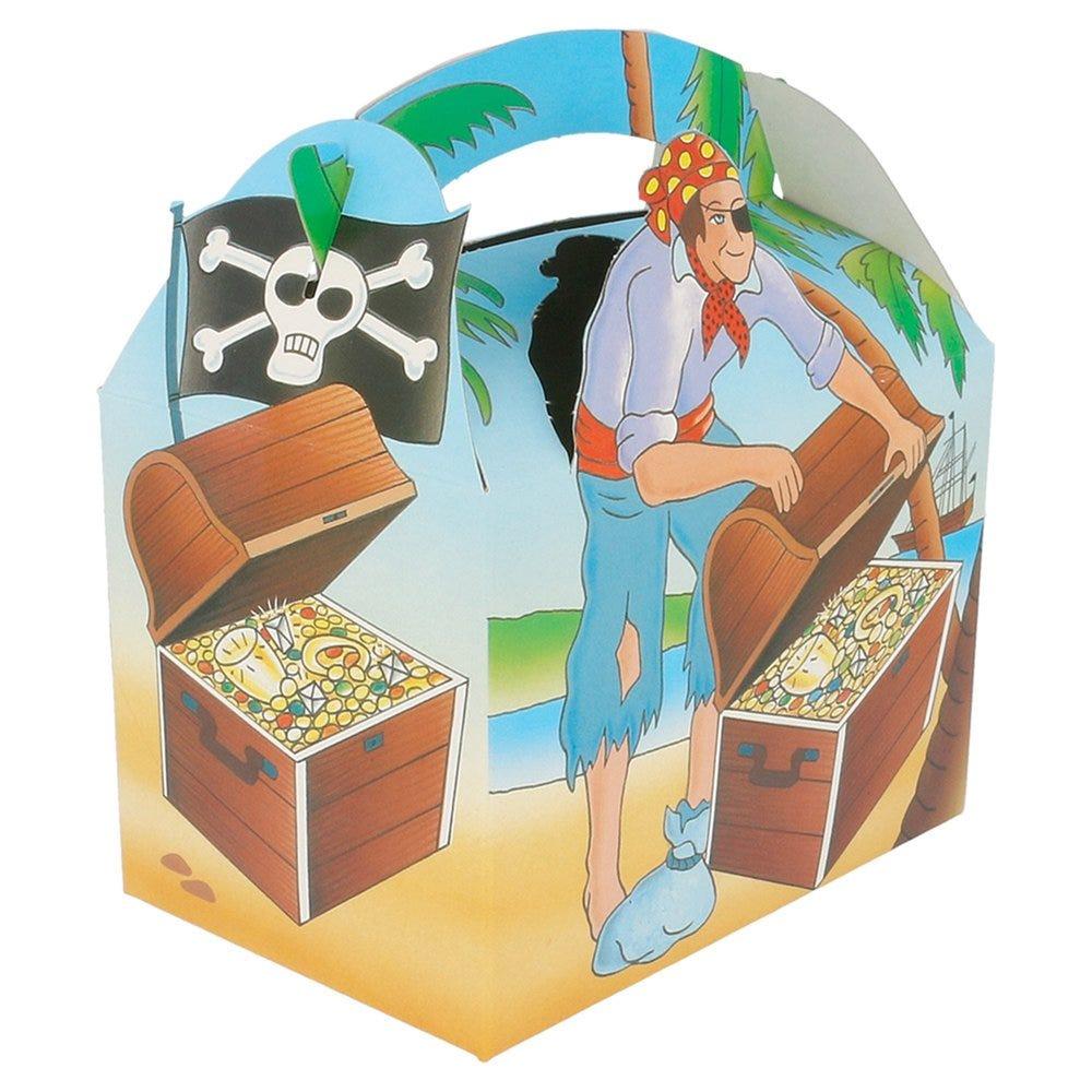 Boîte menu enfant carton Pirate 17x16x10cm - par 300