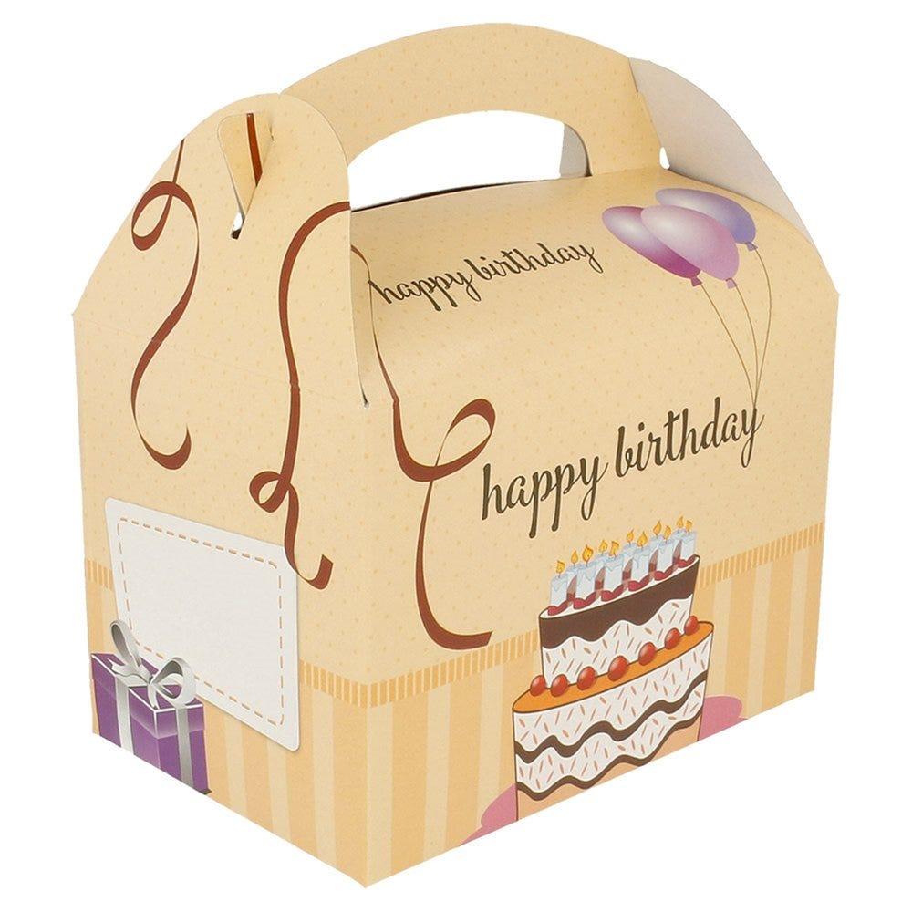 Boîte menu enfant carton Happy birthday 17x16x10cm - par 300