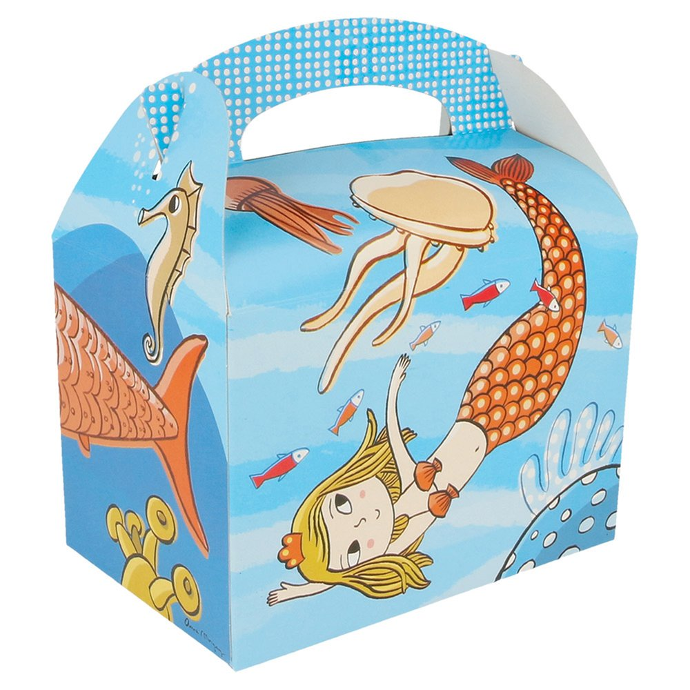 Boîte menu enfant carton Aquatique 17x16x10cm - par 300