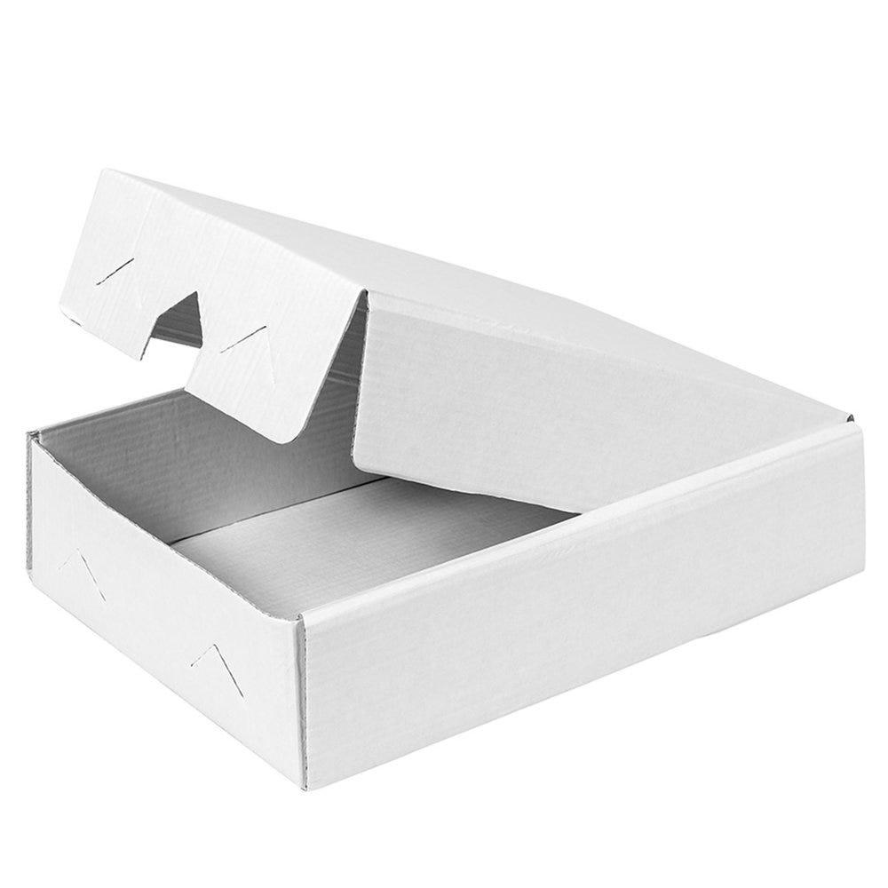 Boîte pour plateau traiteur carton ondulé blanc 19x28x6cm - par 25