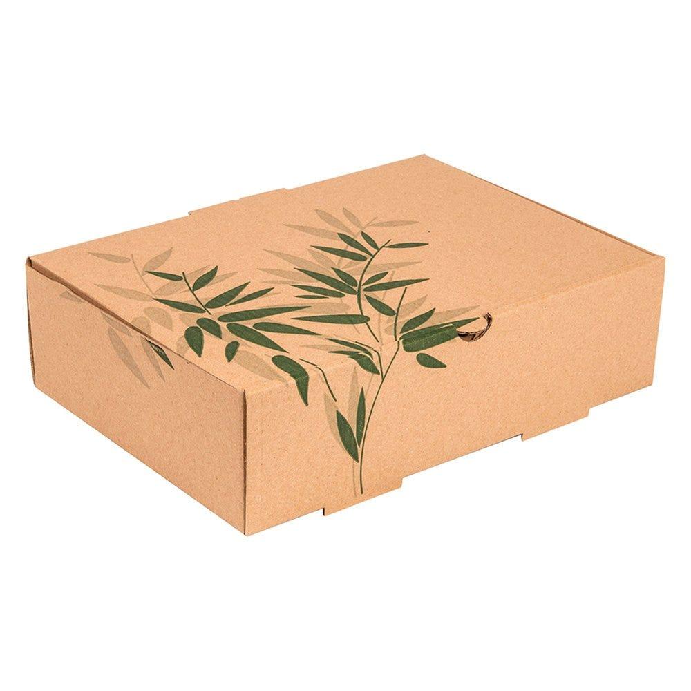 Boite menu Feel Green carton 26x18x7cm - par 100