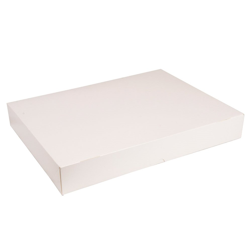 Boîte plateau traiteur carton compact blanc 19x28x6cm - par 100