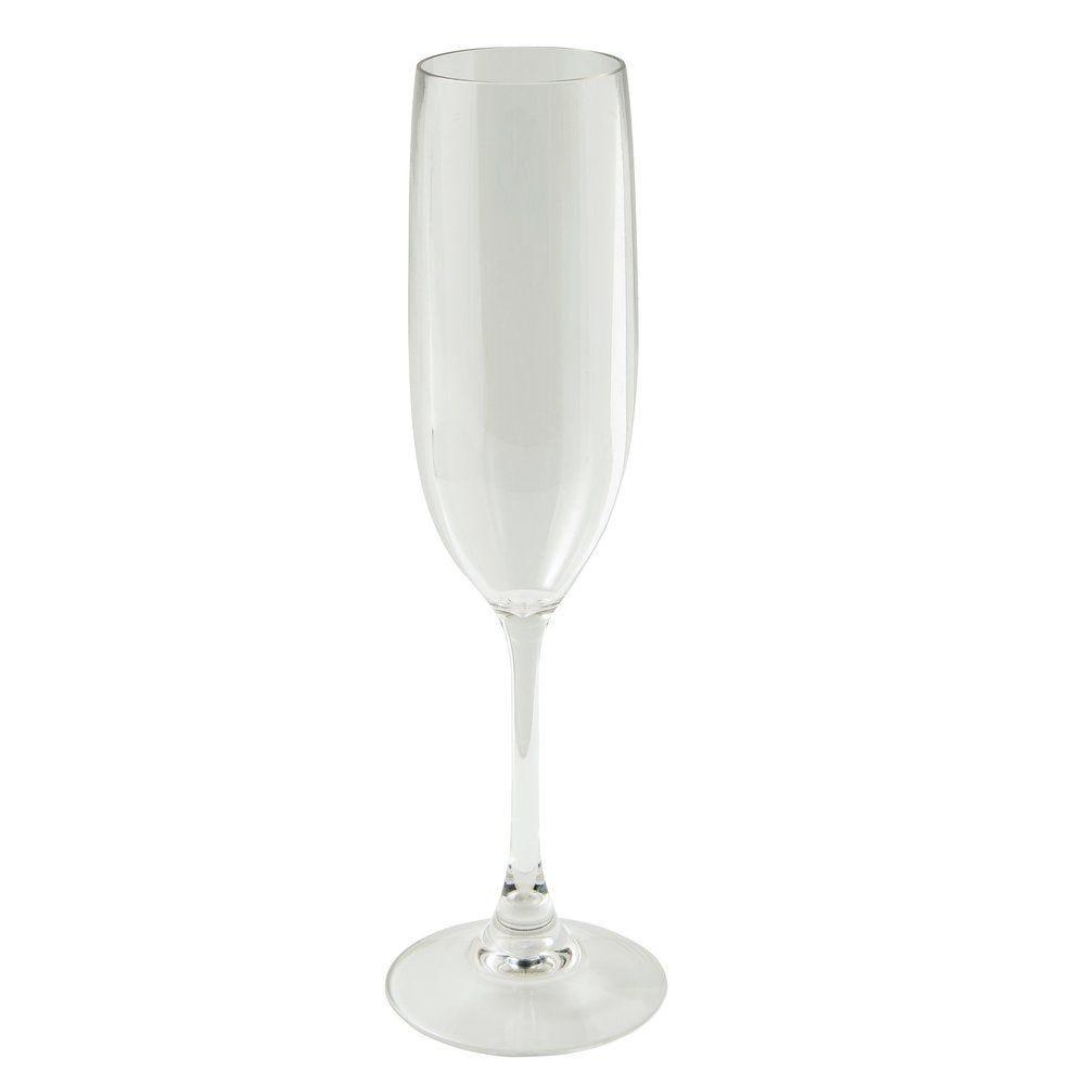 Flûte champagne réutilisable polycarbonate transparent 15cl Ø5,2x23cm - par 24