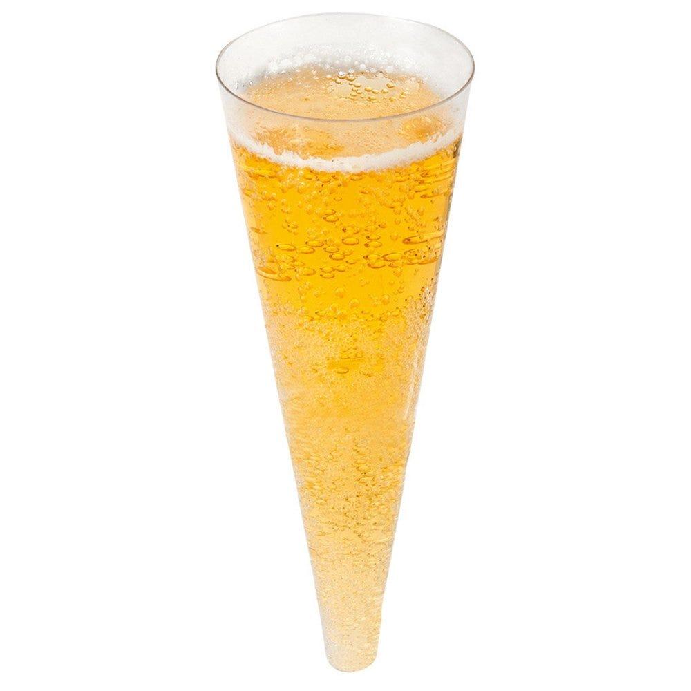 Cône champagne PS transparent Ø5x14cm - par 576