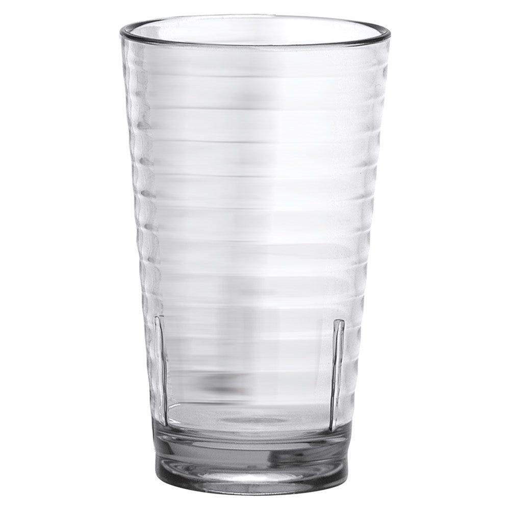 Gobelet strié réutilisable polycarbonate transparent 40cl Ø8x13,5cm - par 24
