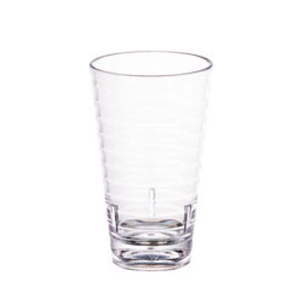 Gobelet strié réutilisable polycarbonate transparent 41cl Ø8,1x13,7cm - par 72