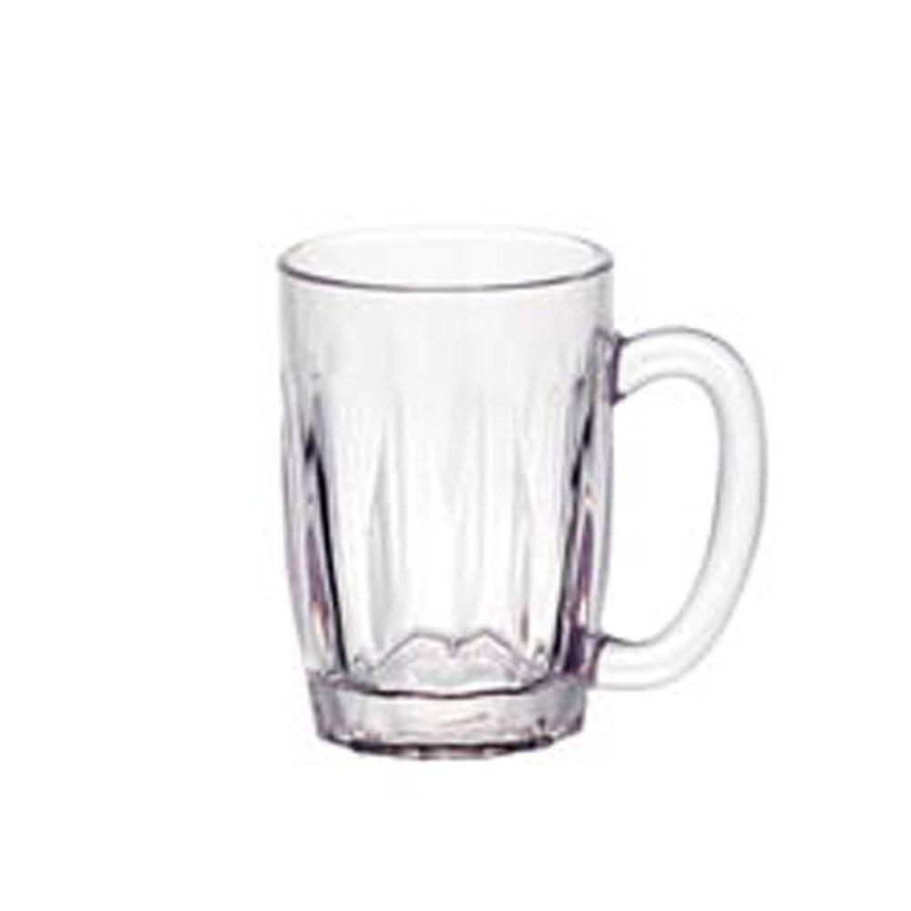 Chope à bière réutilisable polycarbonate transparent 36,5cl Ø7,3x13cm - par 72 (photo)