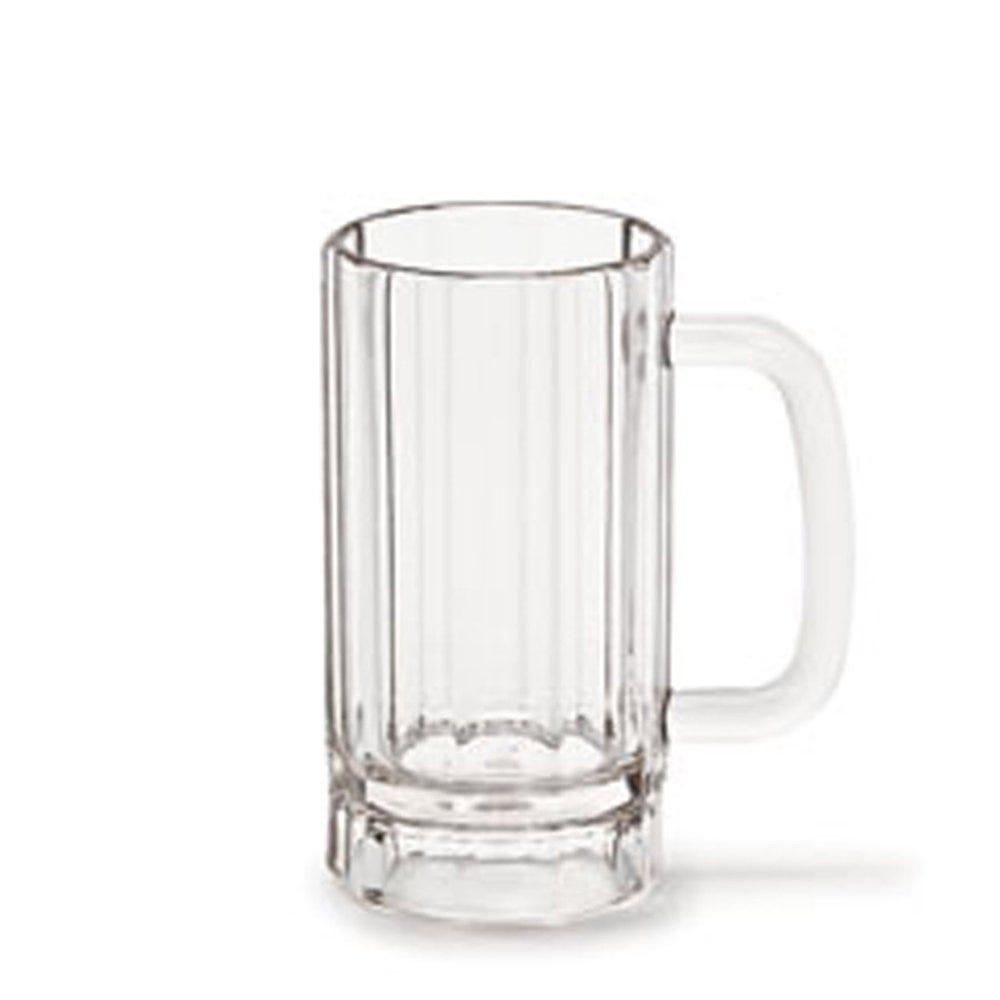 Chope à bière réutilisable polycarbonate transparent 63cl Ø9,5x12cm - par 72 (photo)