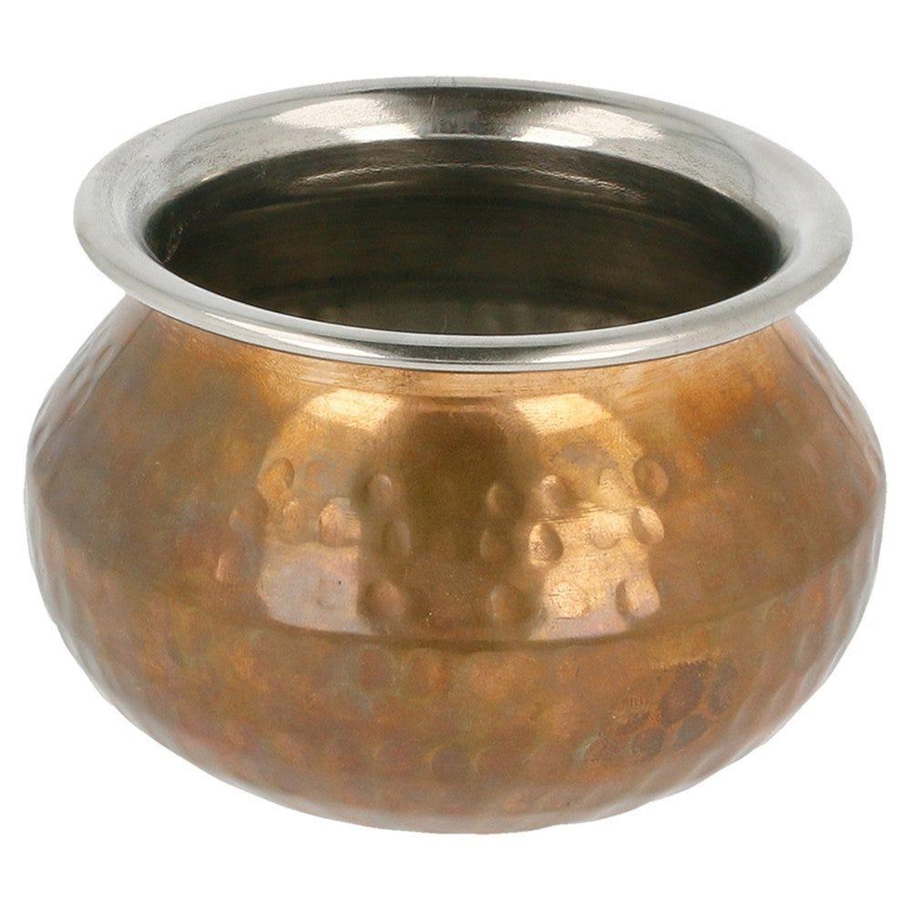 Mini marmite inox cuivre Ø11x8cm