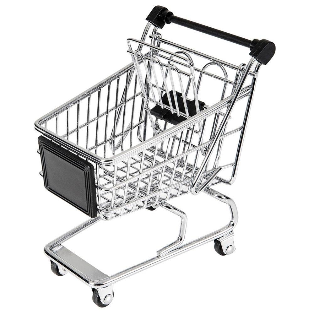 Mini chariot acier chromé 13x13,5x9,5cm - par 6