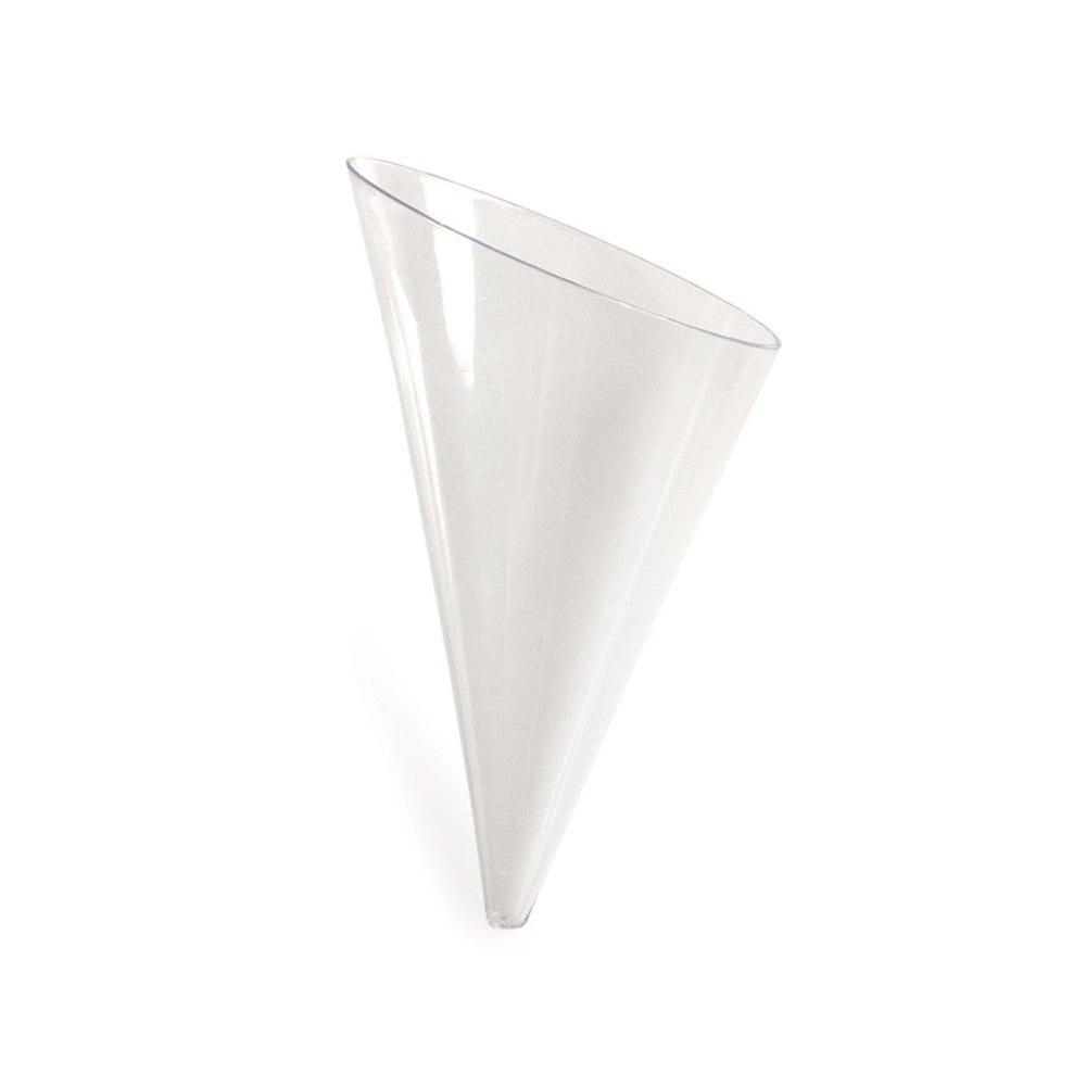 Cône PS transparent 4,5cl 5,8x4,1x9,8cm - par 576