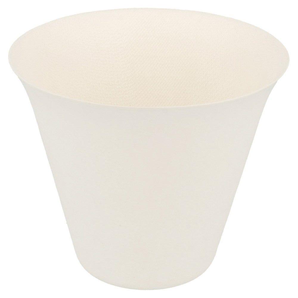 Gobelet bagasse blanche 33,5cl Ø9,9x8,5cm - par 200