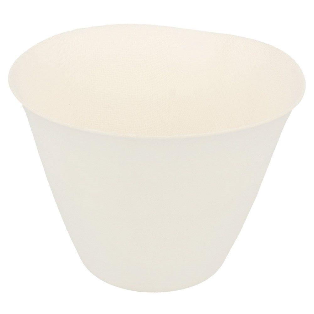 Gobelet bagasse blanche 17,5cl Ø8,3x6,1cm - par 200