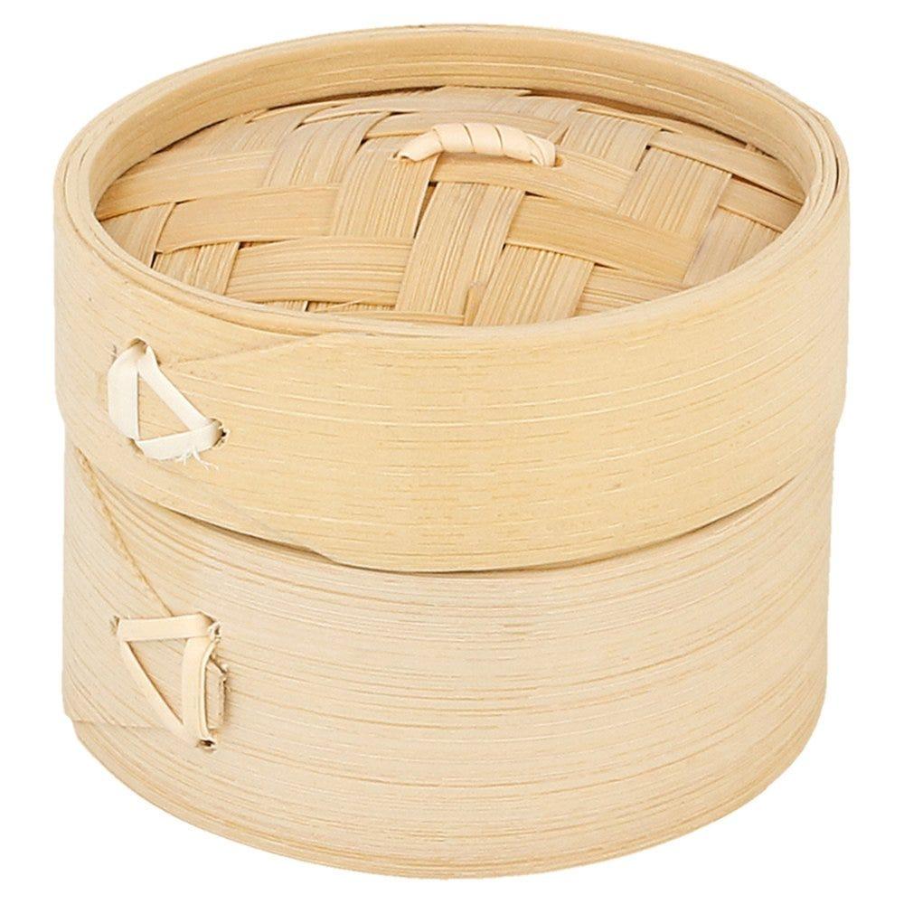 Panier Dim Sum +couvercle bambou Ø8x6cm - par 10