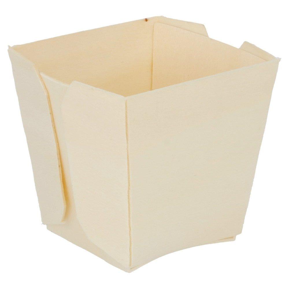 Barquette bois 5,5x5,5x5,5cm - par 500
