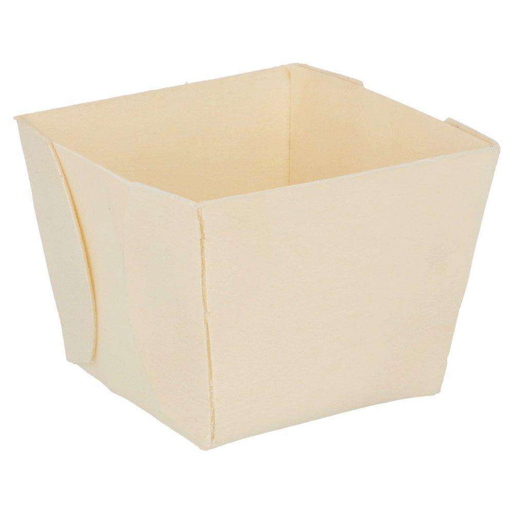 Barquette bois 7x7x5,5cm - par 500