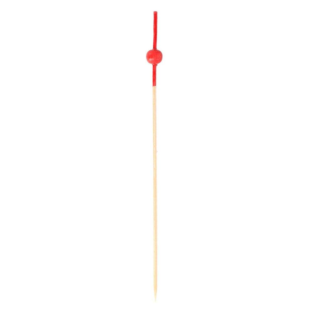 Pique bambou boule rouge 12cm - par 100