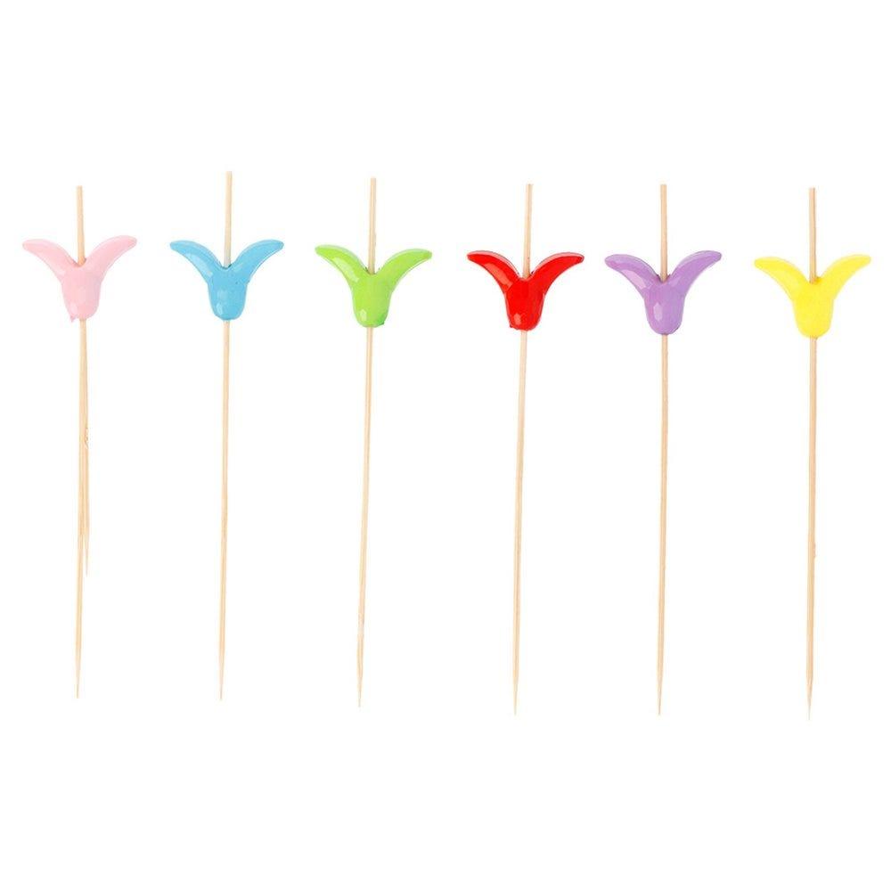 Pique bambou Tulipe 12cm - par 100