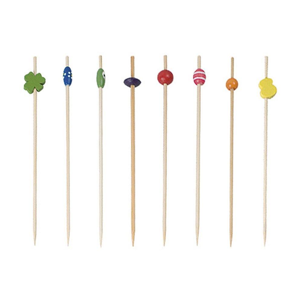 Pique bambou décoré assortiment 12cm - par 100