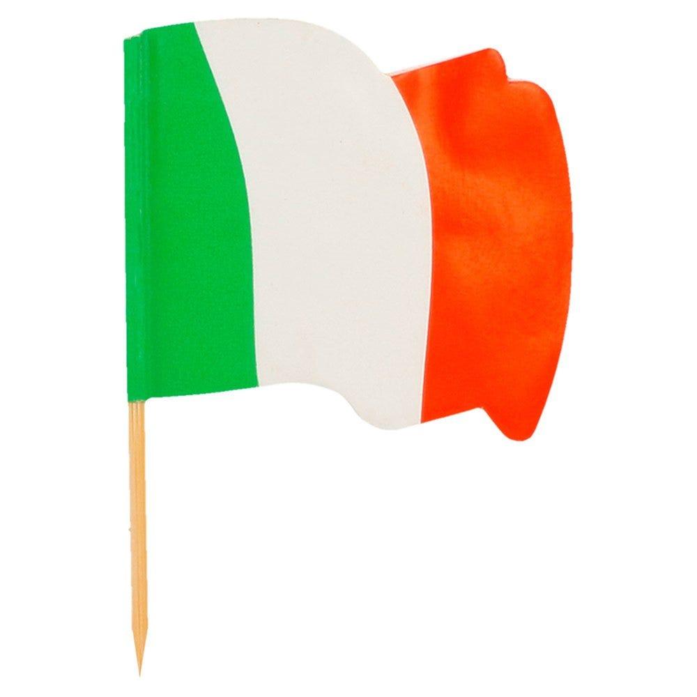 Petit drapeau Italia bois 4x3/6,5cm - par 144