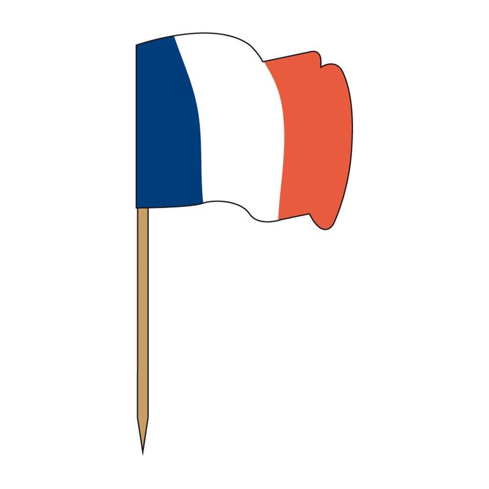 Petit drapeau France bois 4x3/6,5cm - par 144