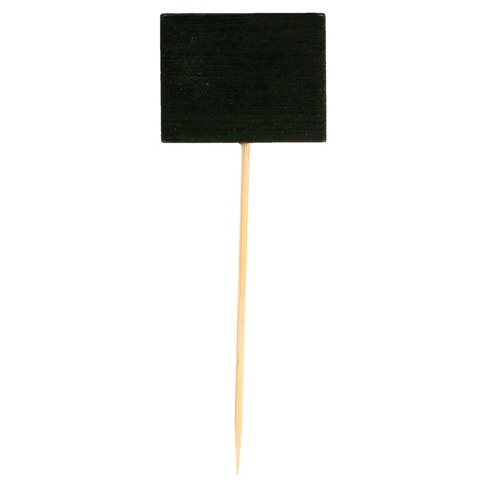 Pique ardoise noir bambou 9cm - par 100