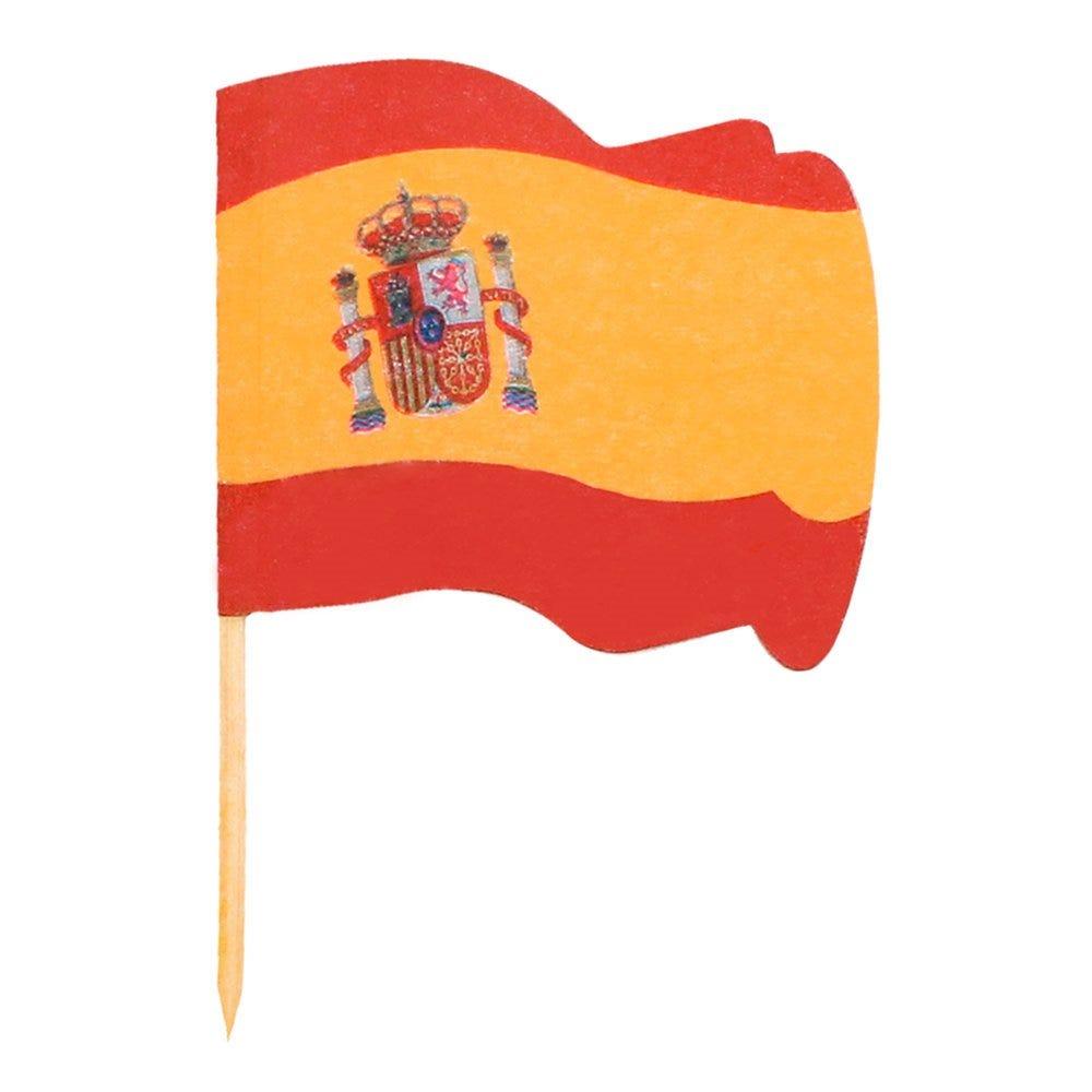 Petit drapeau Espagne bois 4x3/6,5cm - par 144