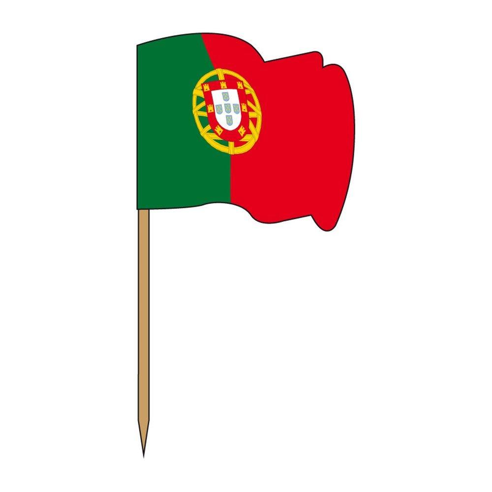 Petit drapeau Portugal bois 4x3/6,5cm - par 144