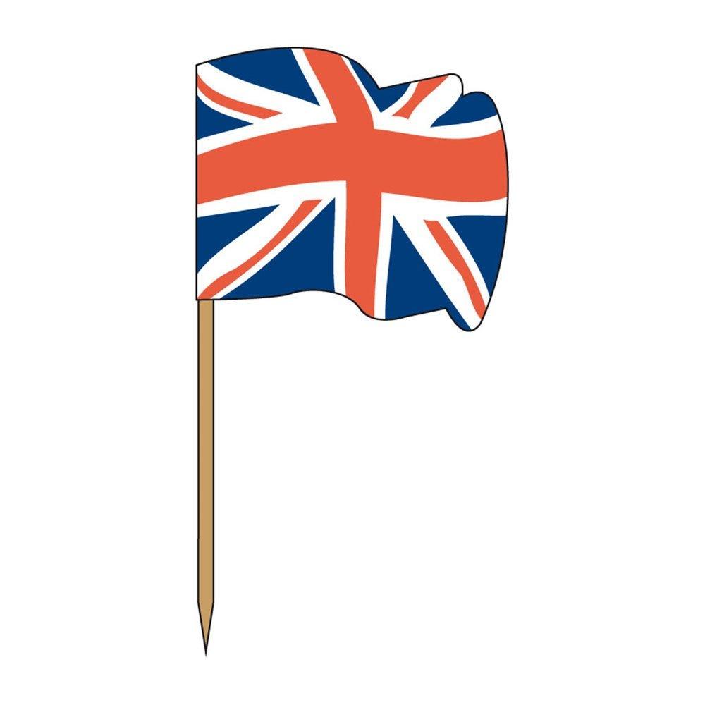 Petit drapeau UK bois 4x3/6,5cm - par 144
