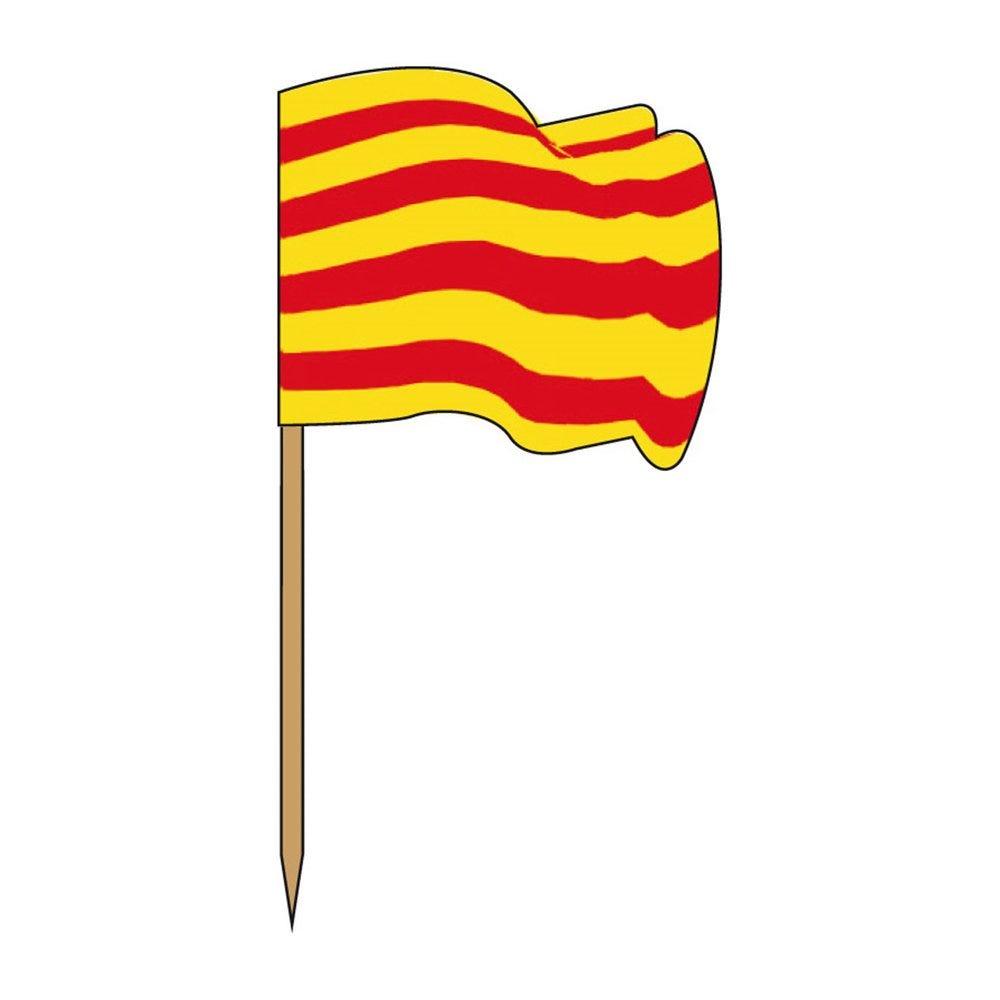 Petit drapeau Catalogne bois 4x3/6,5cm - par 144