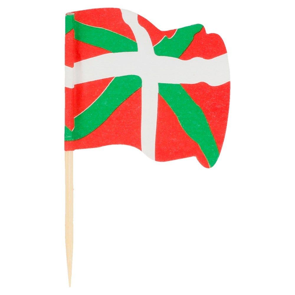 Petit drapeau Euskadi bois 4x3/6,5cm - par 144