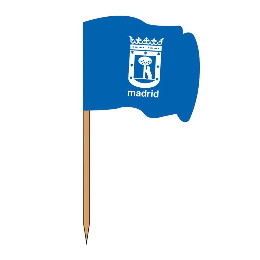 Petit drapeau Madrid bois 4x3/6,5cm - par 144