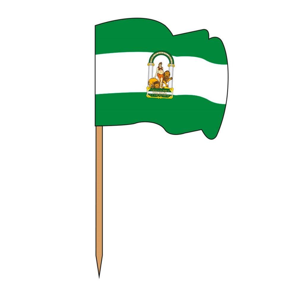 Petit drapeau Andalousie bois 4x3/6,5cm - par 144