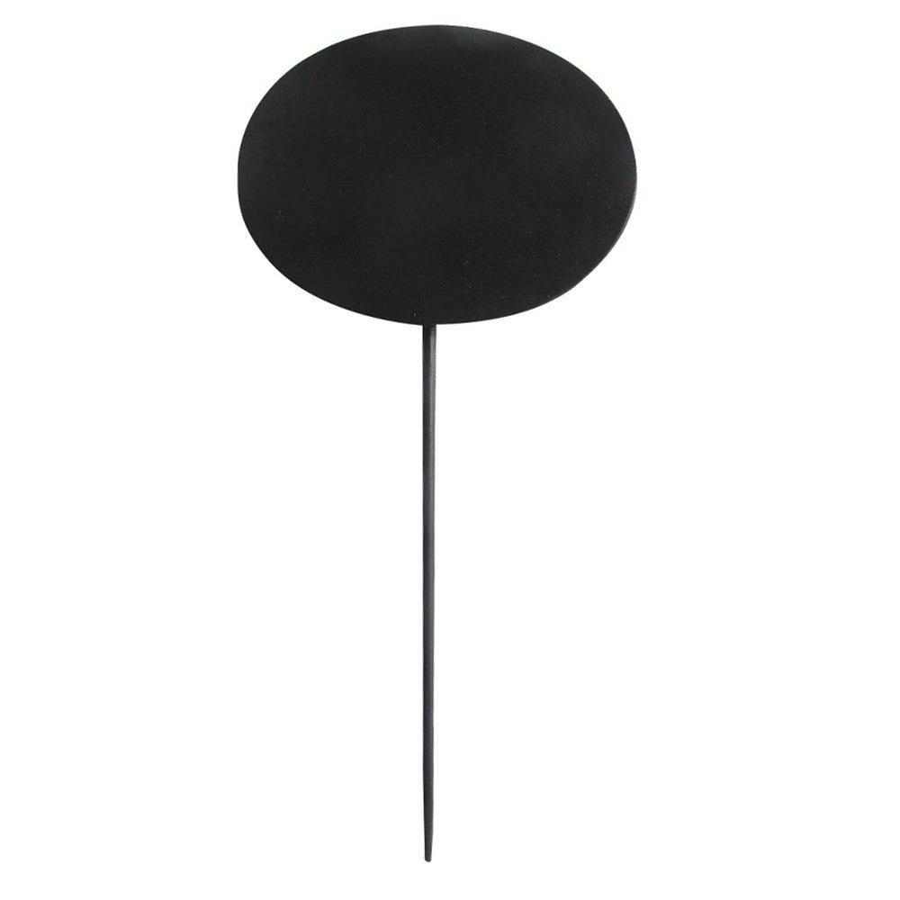 Pique ardoise ovale noir bambou 8x6x18cm - par 5