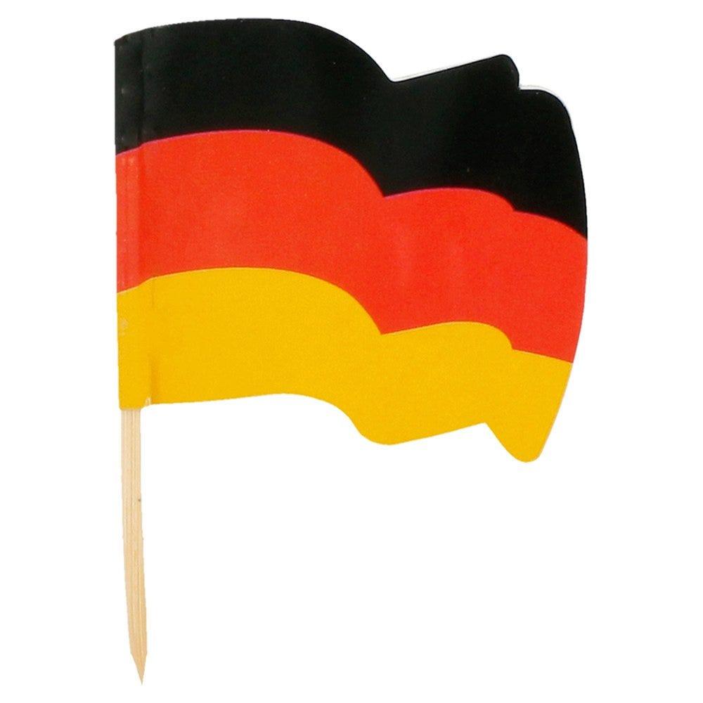 Petit drapeau Allemagne bois 4x3/6,5cm - par 144