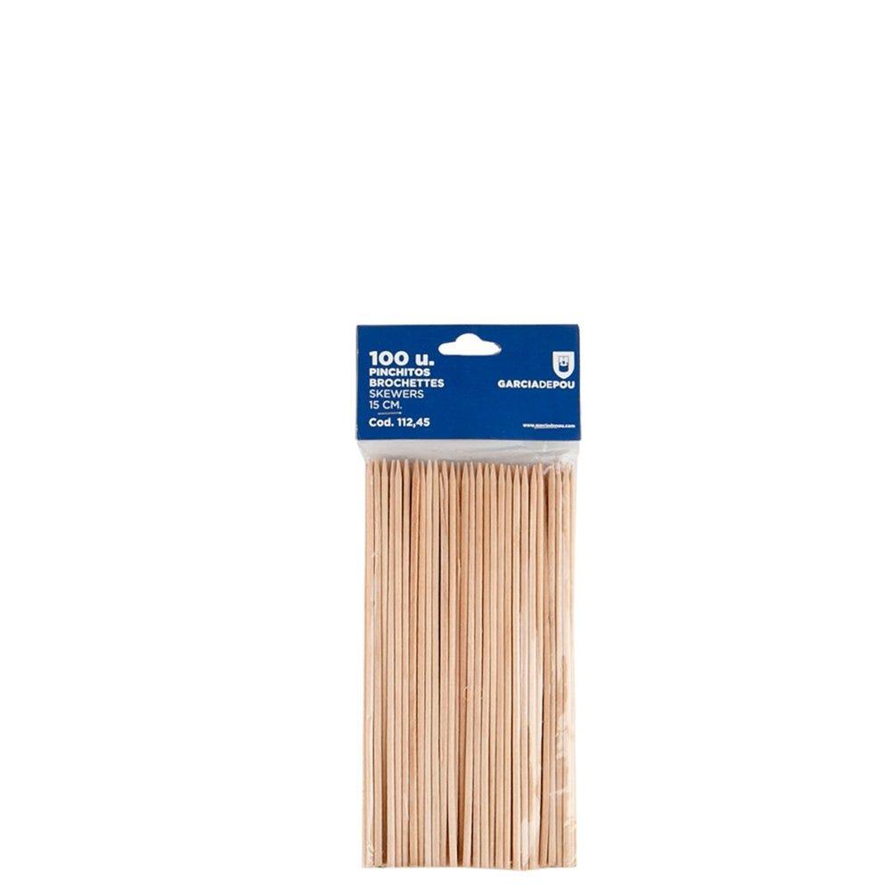 Pique brochette bois 15cm - par 100