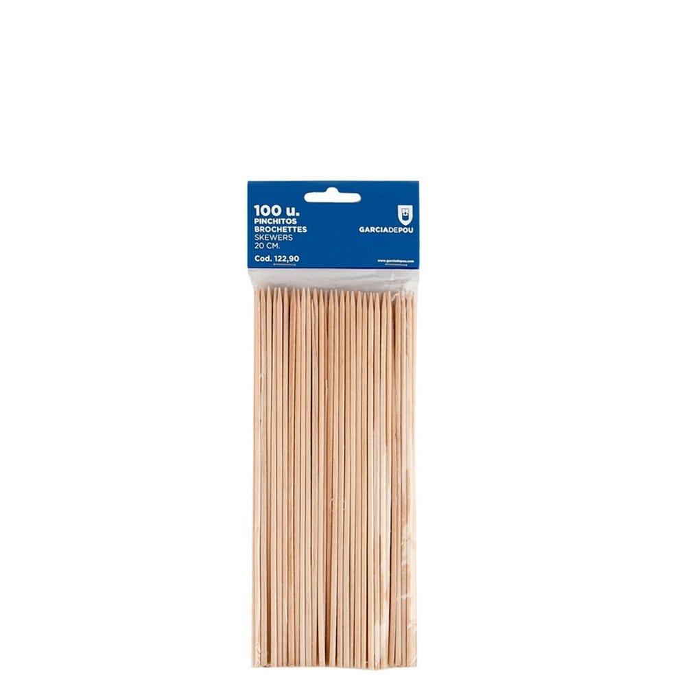 Pique brochette bois 20cm - par 100