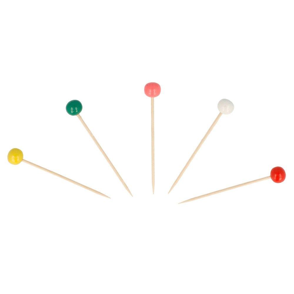 Pique bois Boule couleurs assortis 6,5cm - par 144