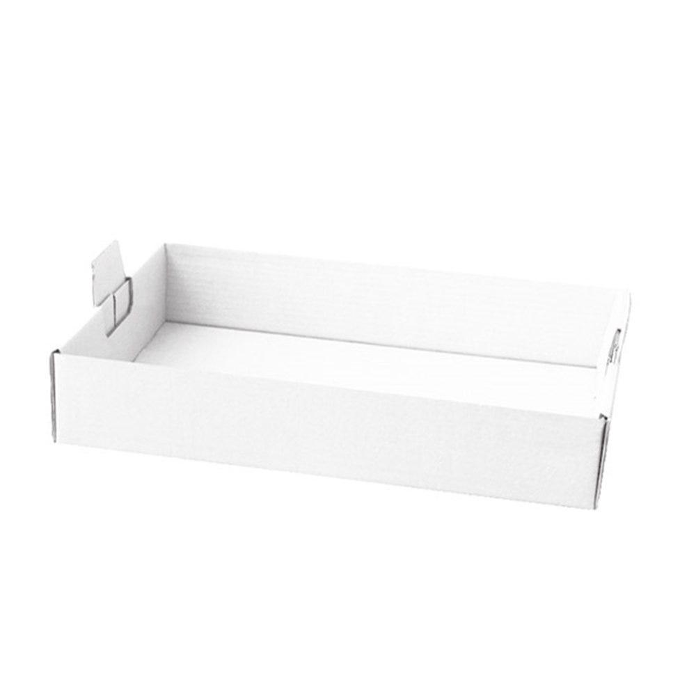 Plateau transport à poignées carton blanc 54,5x38,5x9,5cm - par 50