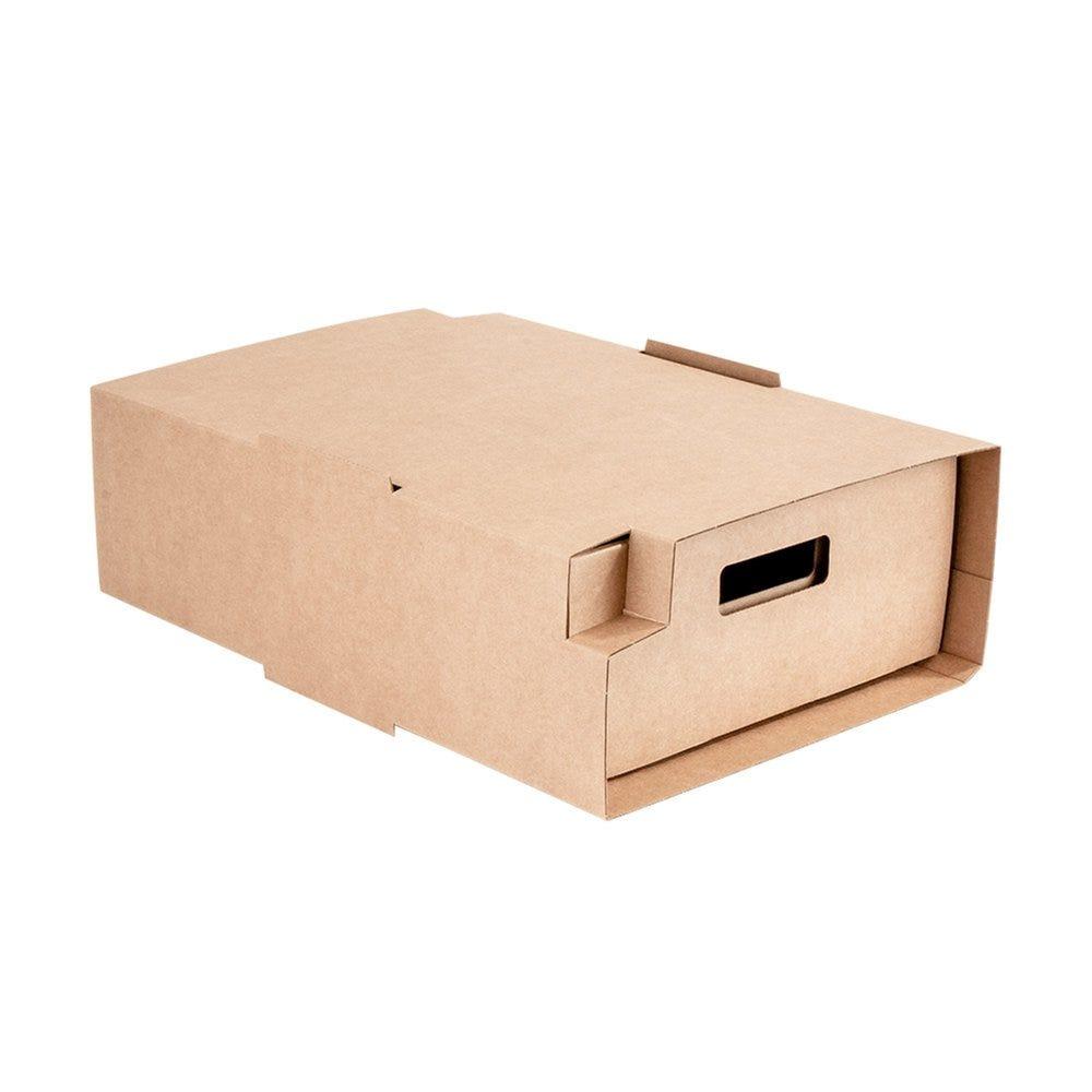 Etui traiteur carton brun ondulé 34x26,5x11,5cm - par 25