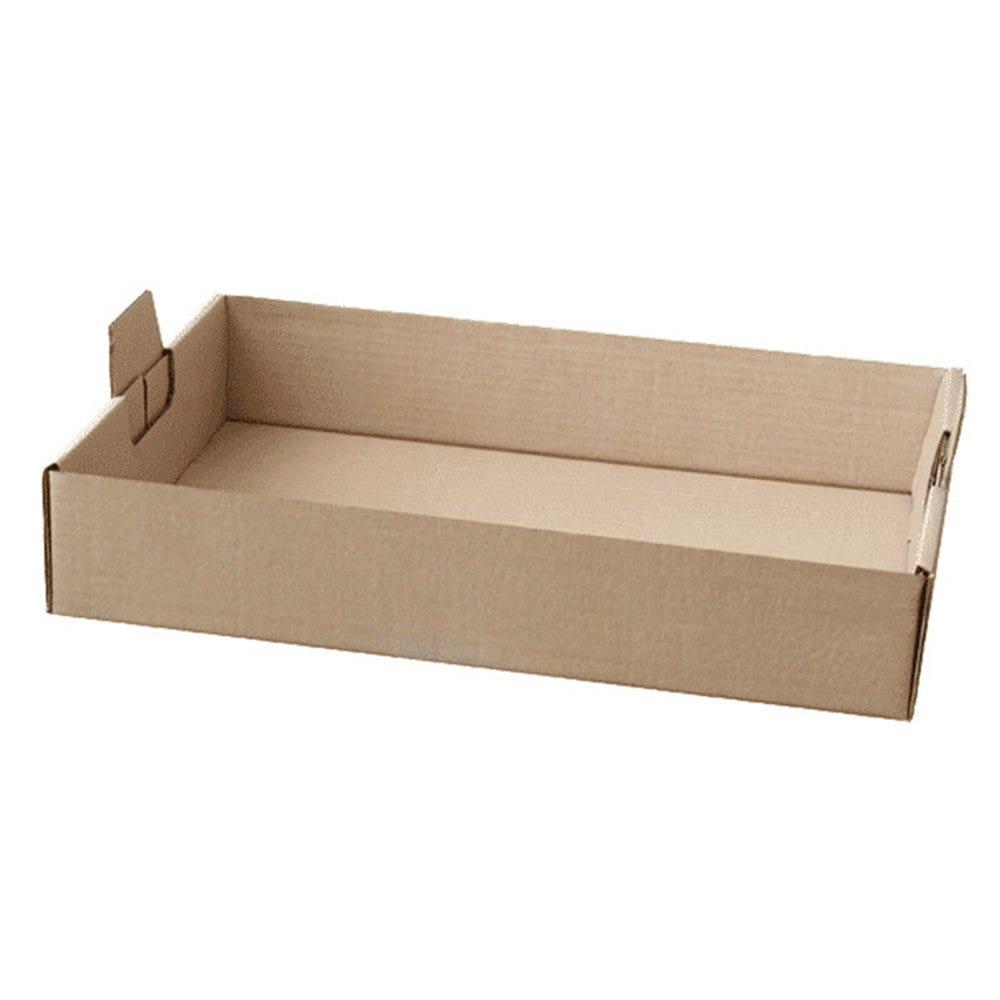 Plateau de transport à poignées carton kraft 65,8x42,5x9,5cm - par 50