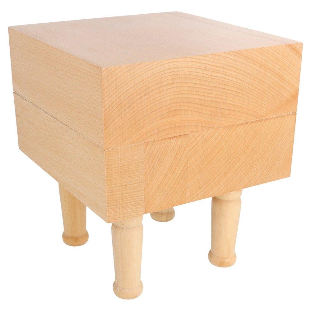 Élévateur sur pieds bois 15,25x15,25x17,5cm - par 1 (photo)