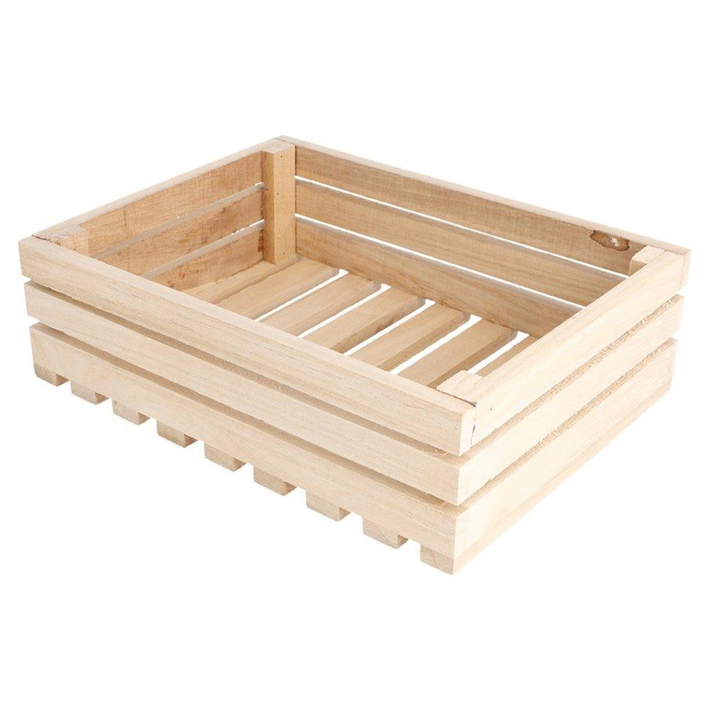 Cagette de présentation en bois 20,3x15,2x6cm