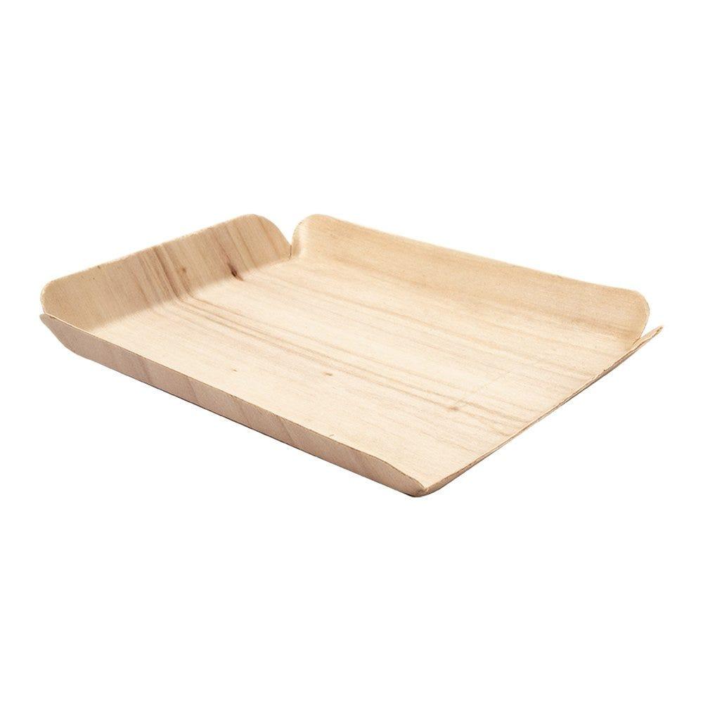 Barquette bois de peuplier 15x11,5x1,5cm - par 50