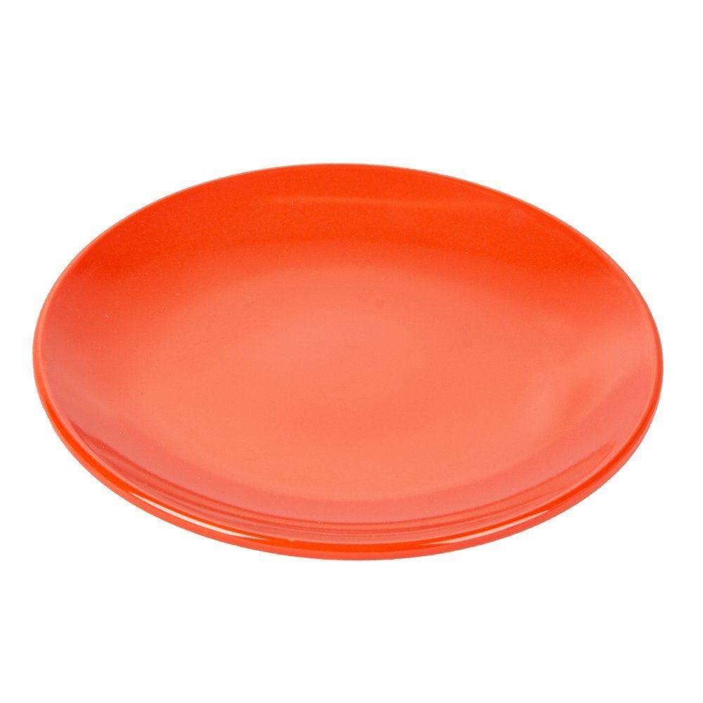 Assiette mélamine rouge Ø15,3cm - par 12