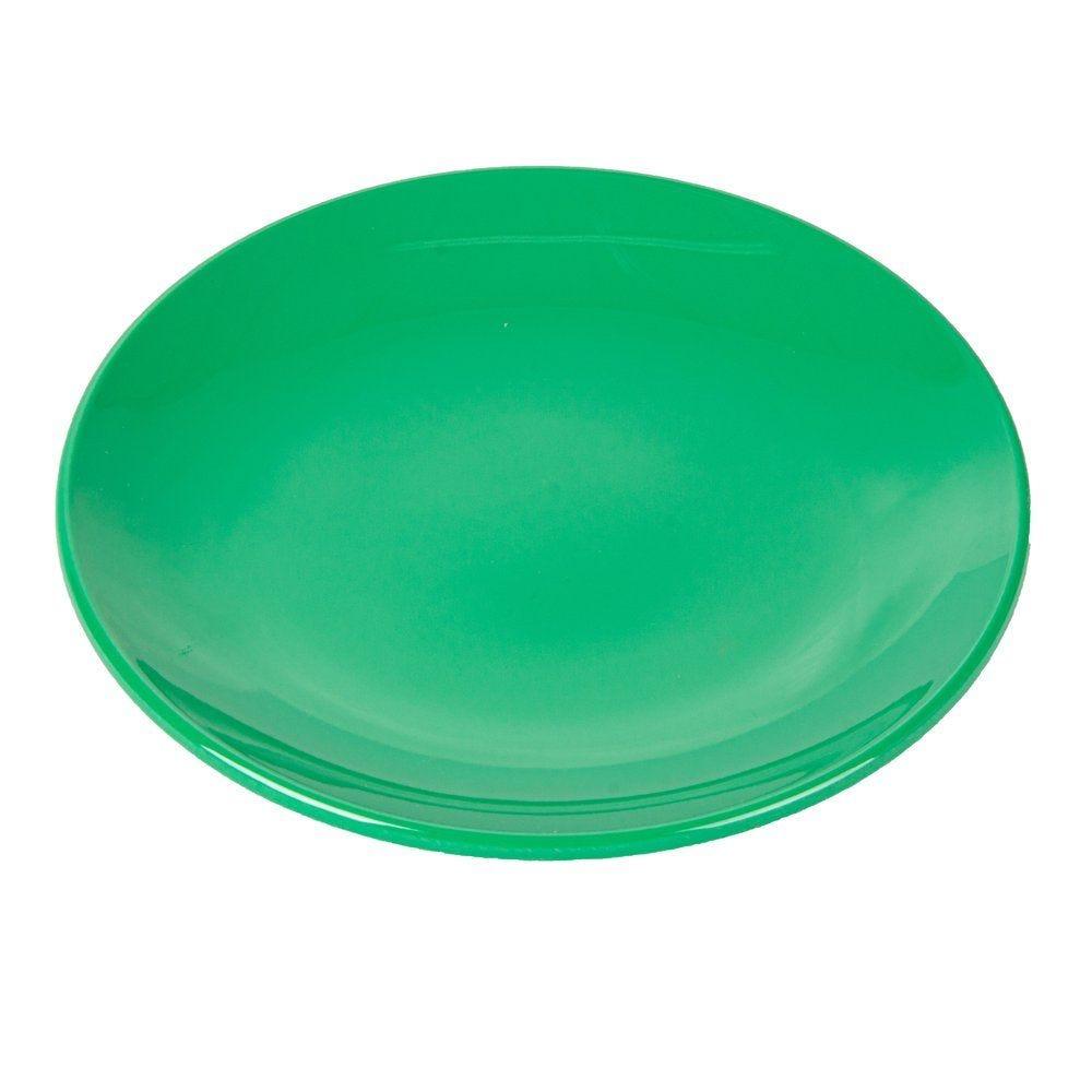 Assiette mélamine vert Ø15,3cm - par 12