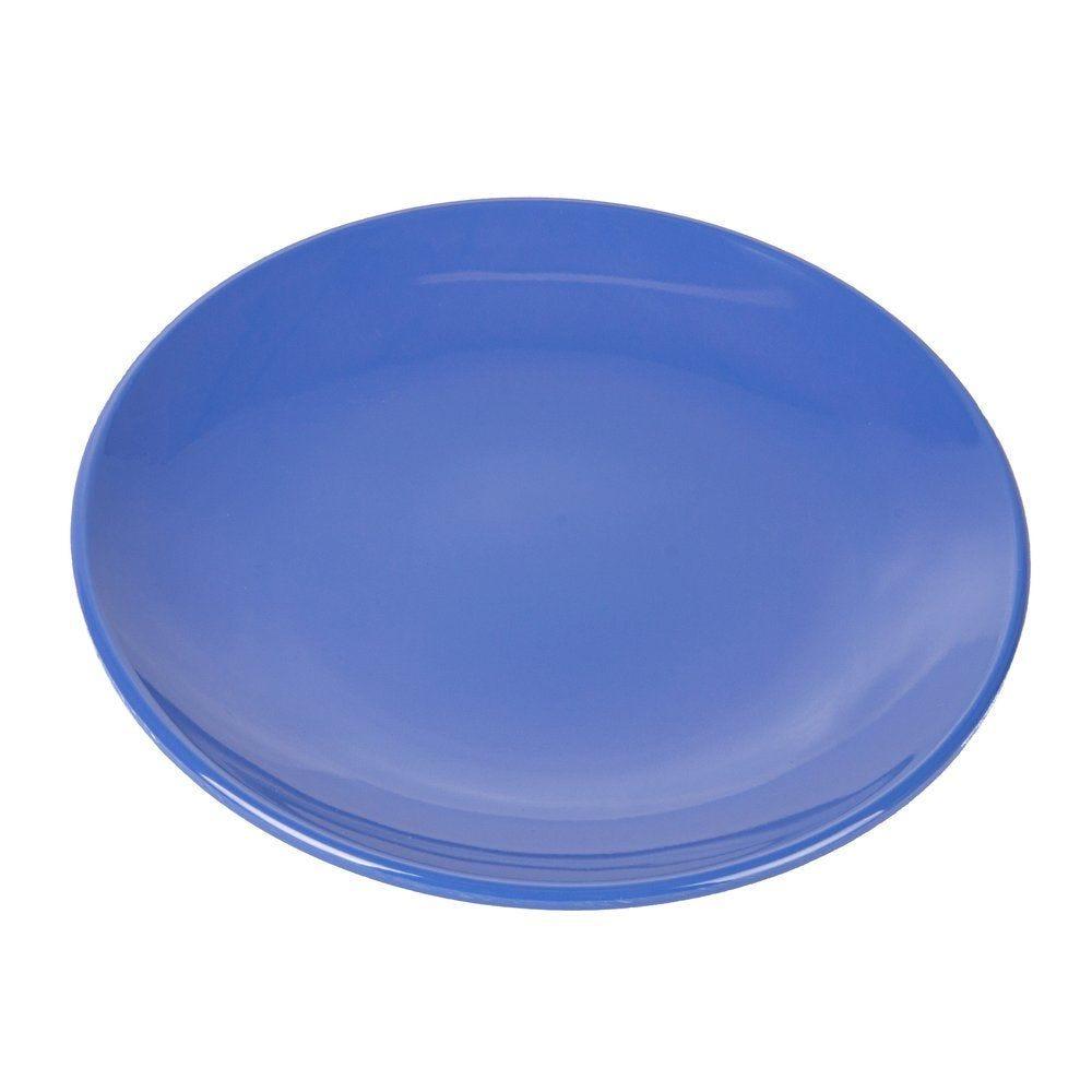 Assiette mélamine bleu Ø15,3cm - par 12