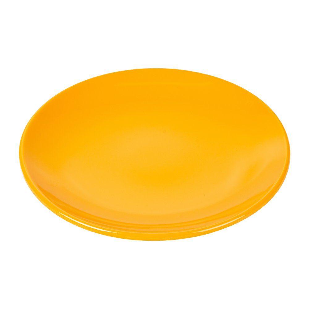 Assiette mélamine jaune Ø23cm - par 12